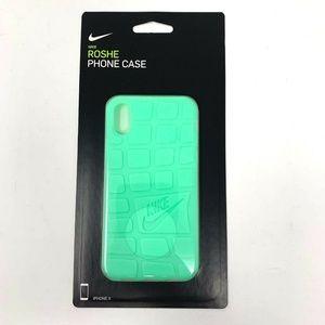 Nike Roshe Shoe Bottom Style iPhone X Case - Teal